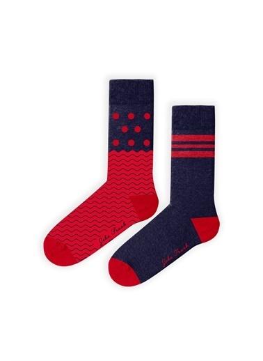 John Frank 2'li Çorap Renkli